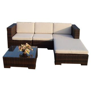 Rattan Wicker Garden Patio Set California black Outdoor Lounge Furniture Couch