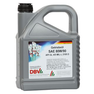 80W-90 GL4/5 (partially synthetic) 4 x 5 liter can