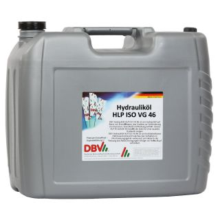 DBV hydraulic oil HLP ISO VG 46 20 liter canister