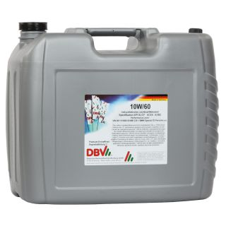 10W/60 (fully synthetic) 20 liter canister