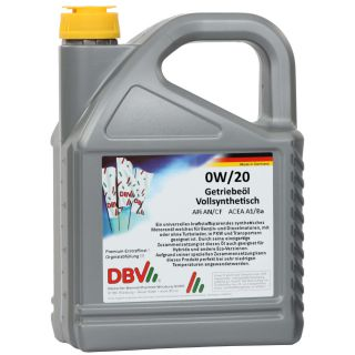 0W/20 fully synthetic engine oil 4 x 5 liter can