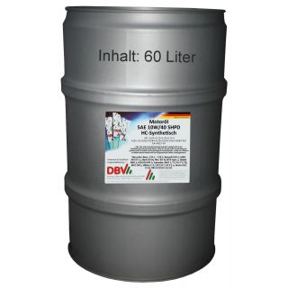 DBV SAE 10W/40 SHPD year-round oil (partially synthetic) 60 liter barrel