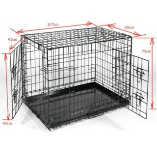 Foldable Metal Dog Pet Cage HK-XL Travel Carrier Crate Puppy