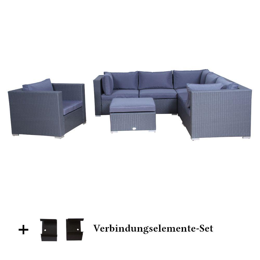 Patio Furniture Memphis Tn: Rattan Wicker Garden Set Memphis Anthracite