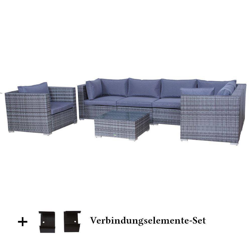 poly rattan gartenm bel set memphis anthrazit alu linja gmbh co kg linja24 695 00. Black Bedroom Furniture Sets. Home Design Ideas