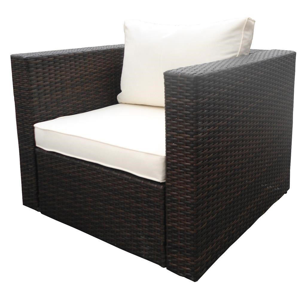 nj garden furniture rattan wicker garden single sofa