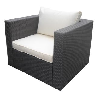 Rattan Wicker Garden Single Sofa NJ black Outdoor Lounge Furniture Couch
