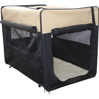 Hundetransportbox HBF-5026 beige S Transportbox faltbare Hundebox Reisebox